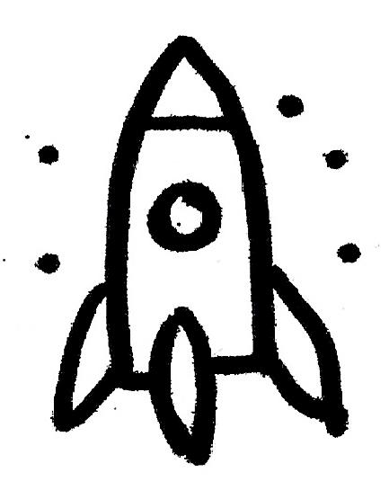 Rakete Zeichnung