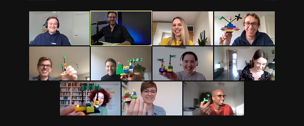 Group of people in video call