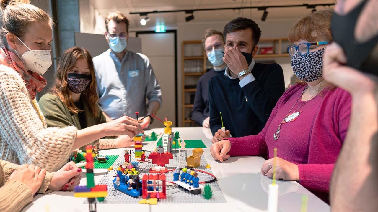 Team builds Lego