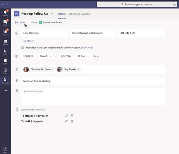 Collaborate with colleagues, clients and suppliers using Microsoft Teams.