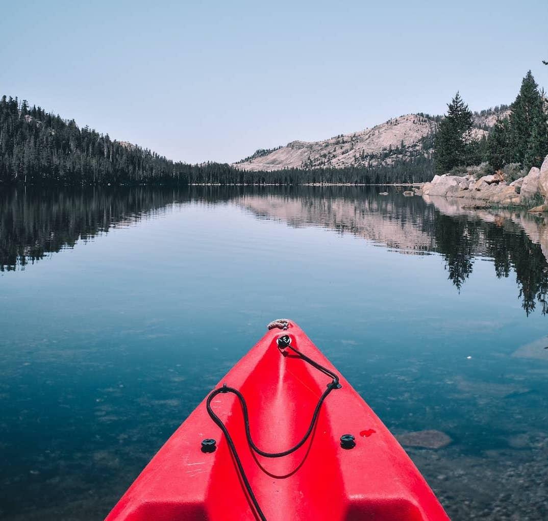 Kayaking on Lake Mary Mammoth Lakes