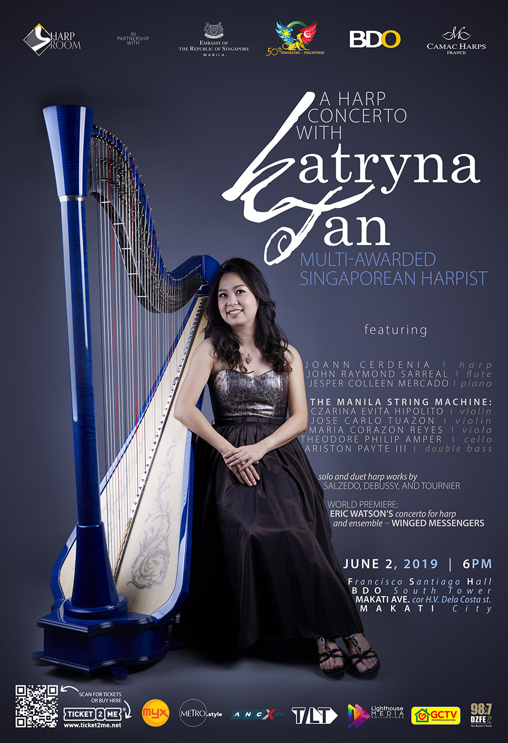 Poster: A harp concerto with Katryna Tan