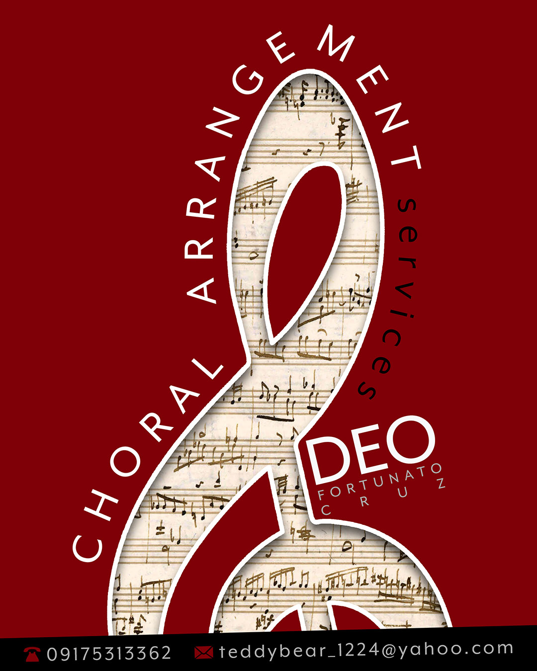 Poster: Deo choral arrangement