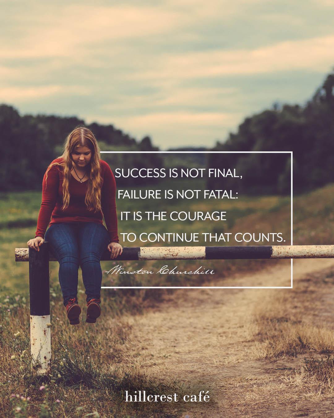 Poster: Success is not final, failure is not fatal.