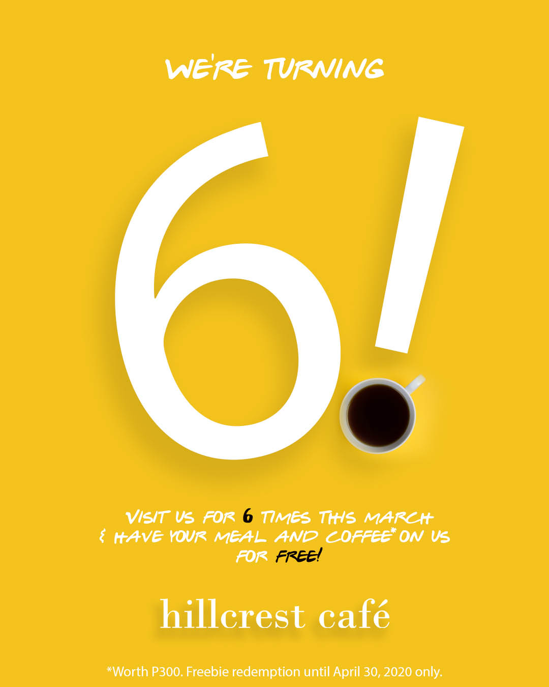 Poster: Hillcrest Cafe turns 6