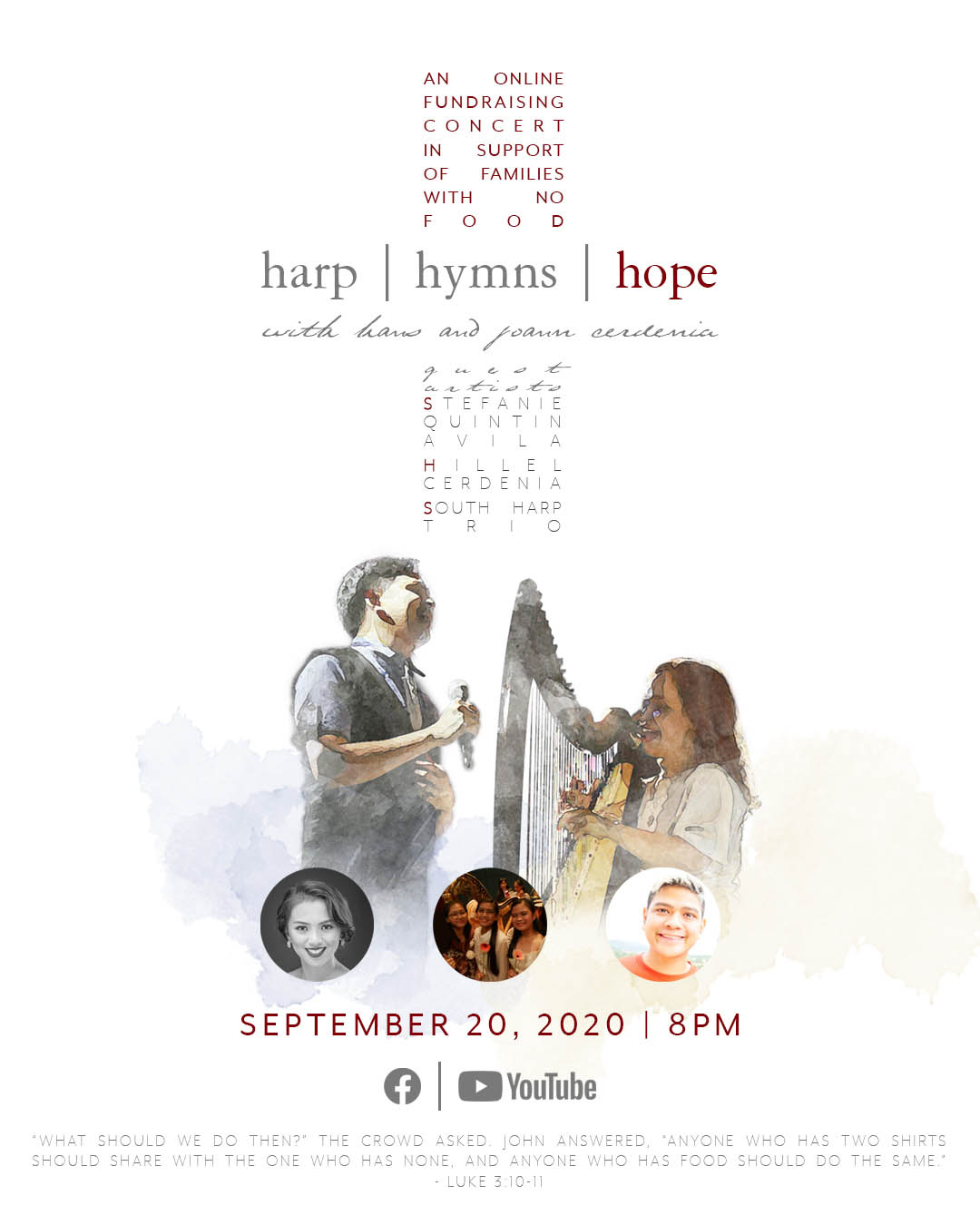 Poster: Harp, hymns, and hope