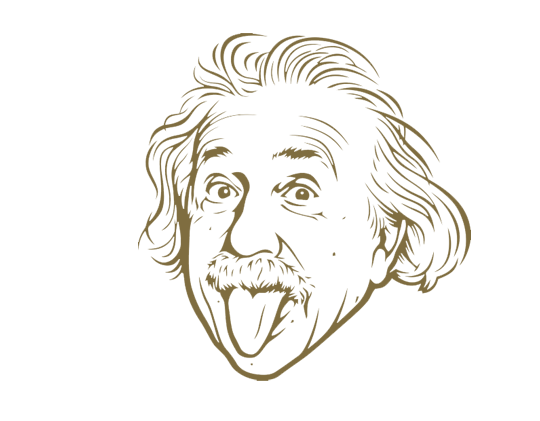 Einstein picture with tongue hanging out