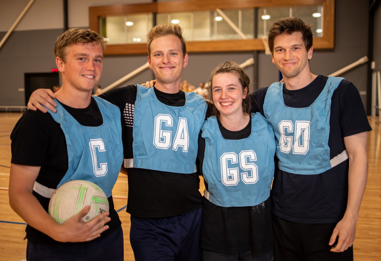 Four social Netball players