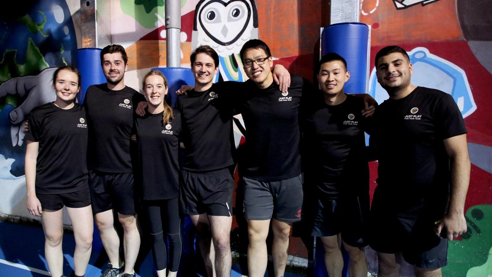 A group of social sport participants