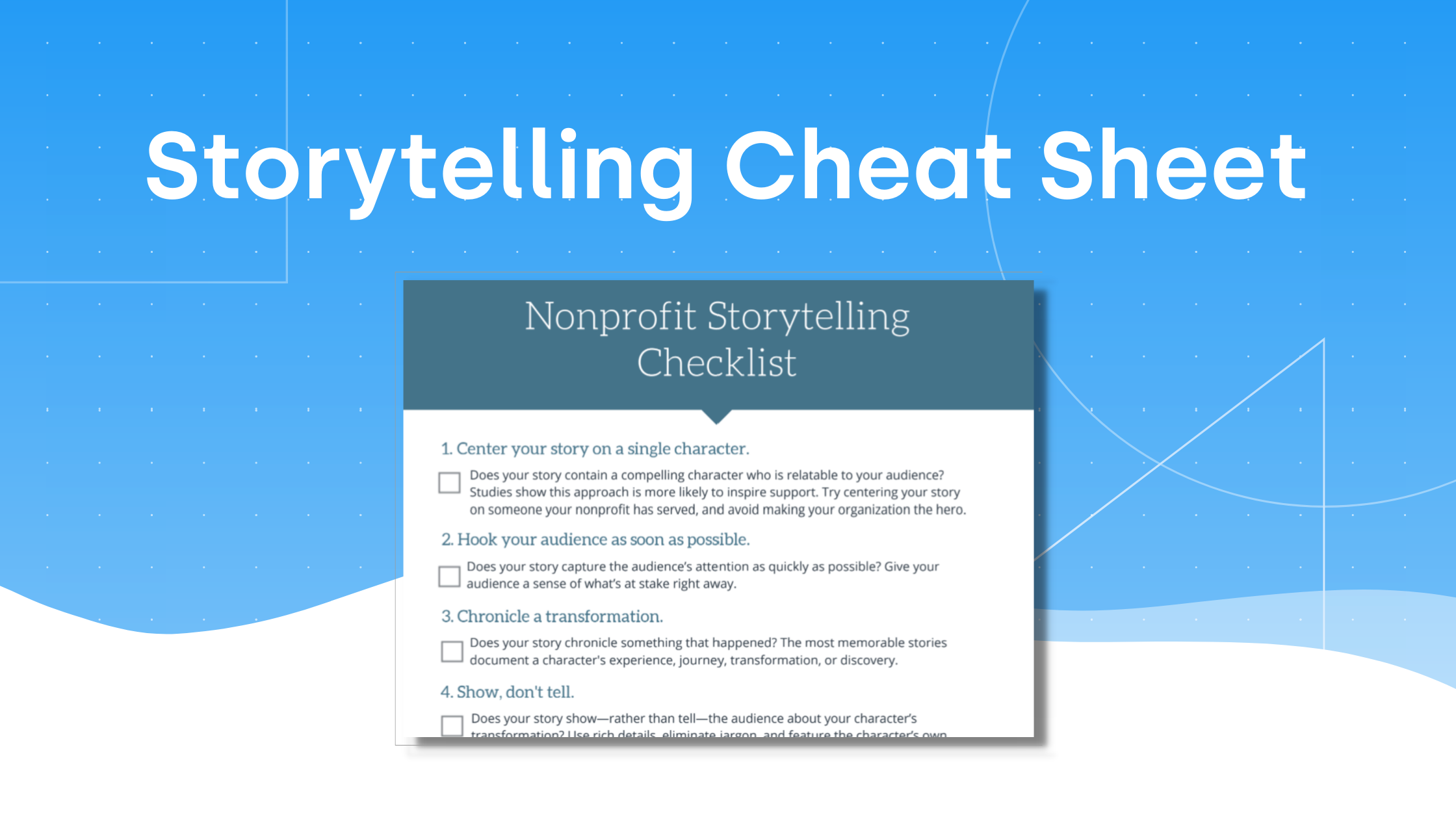 Write Better Nonprofit Stories (Checklist)