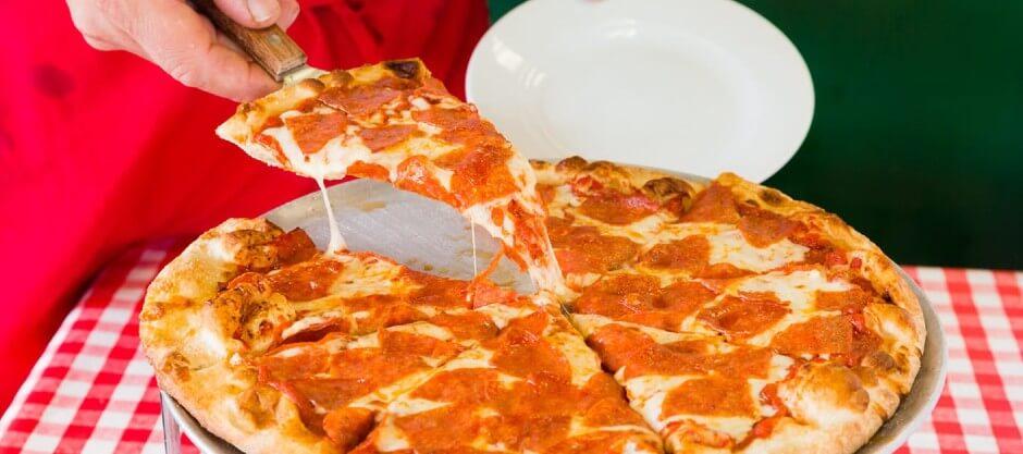 slice of delicious pizza