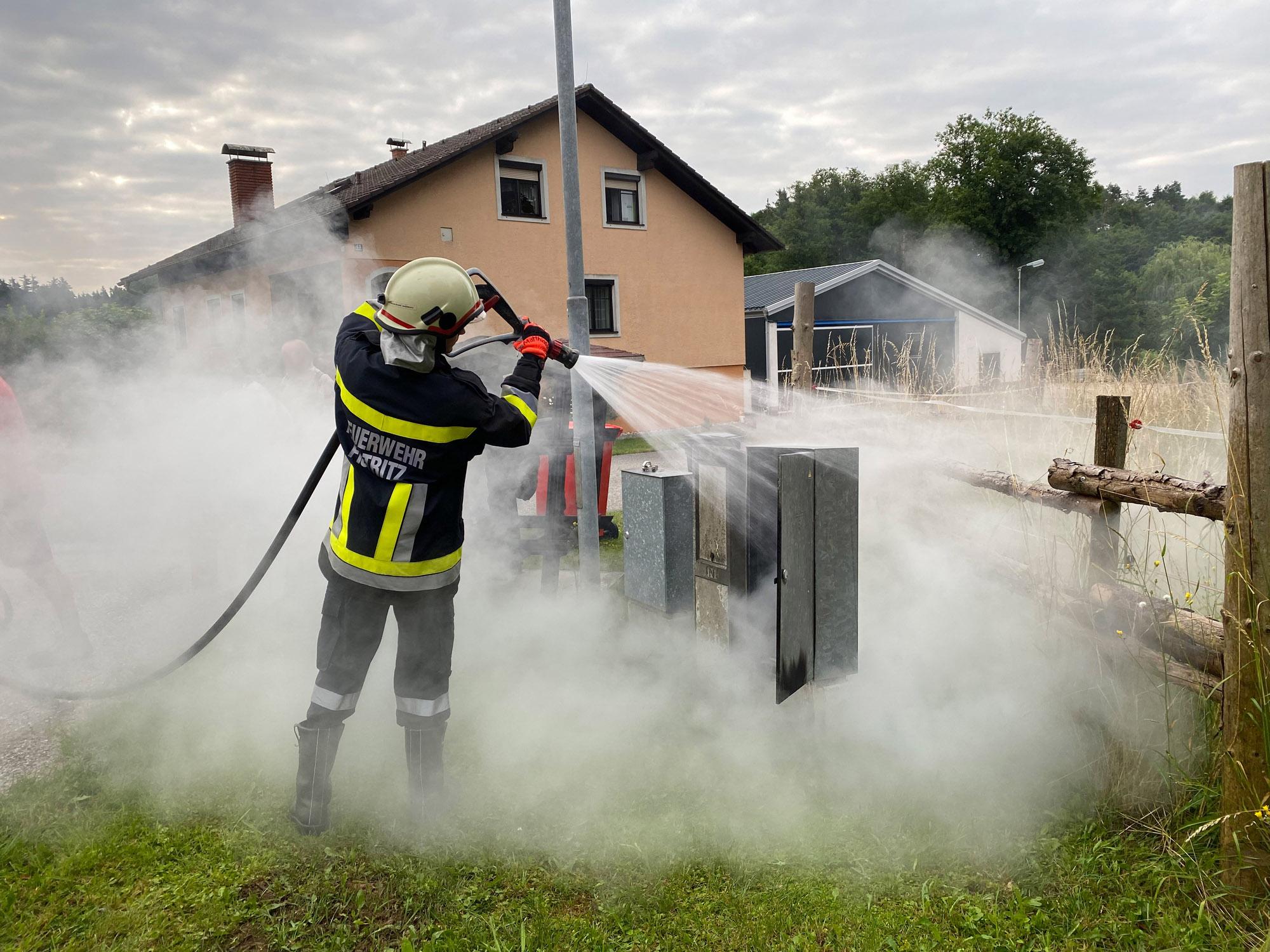 Brand eines Sicherungskastens - Fistritz