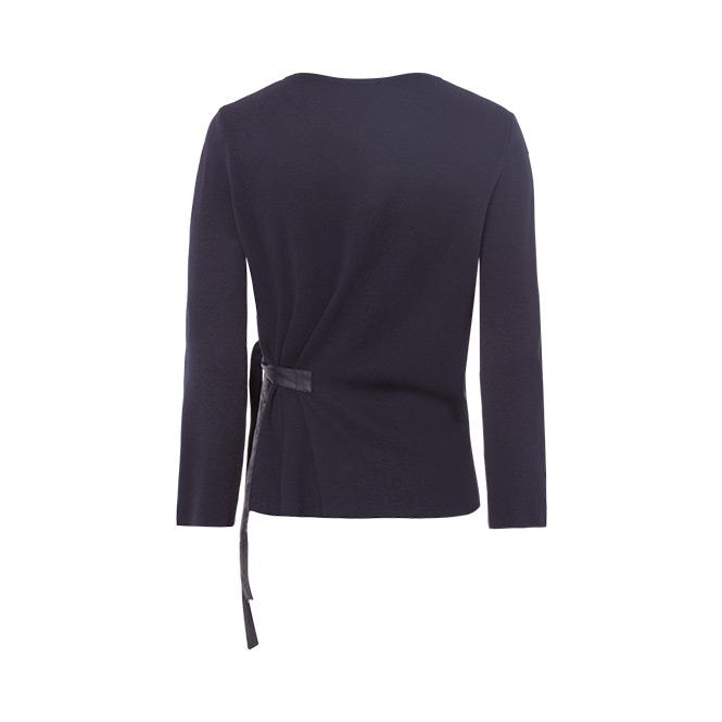 Pullover mit Lederdetails