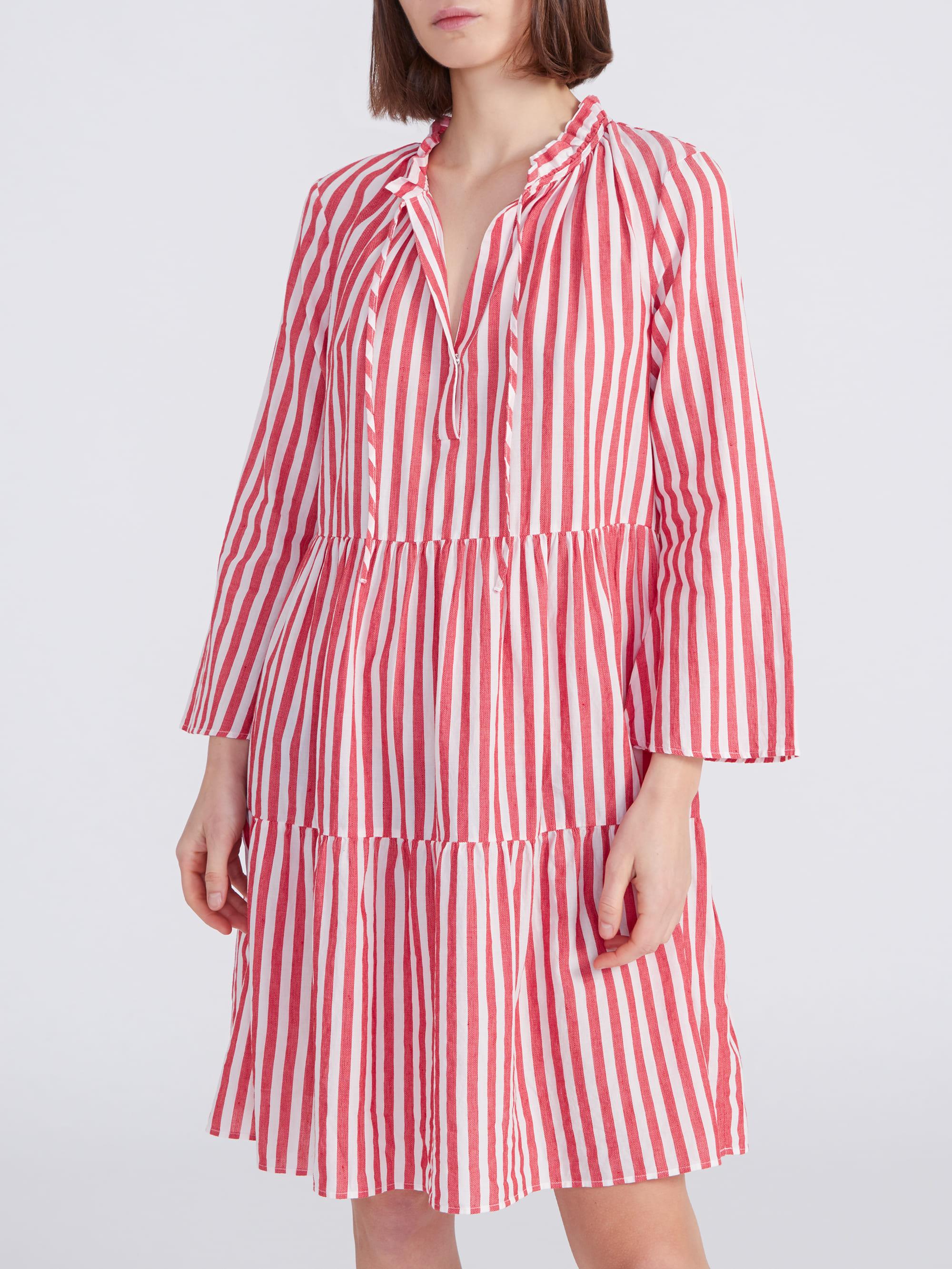 Kleid Milly Stripes Rot