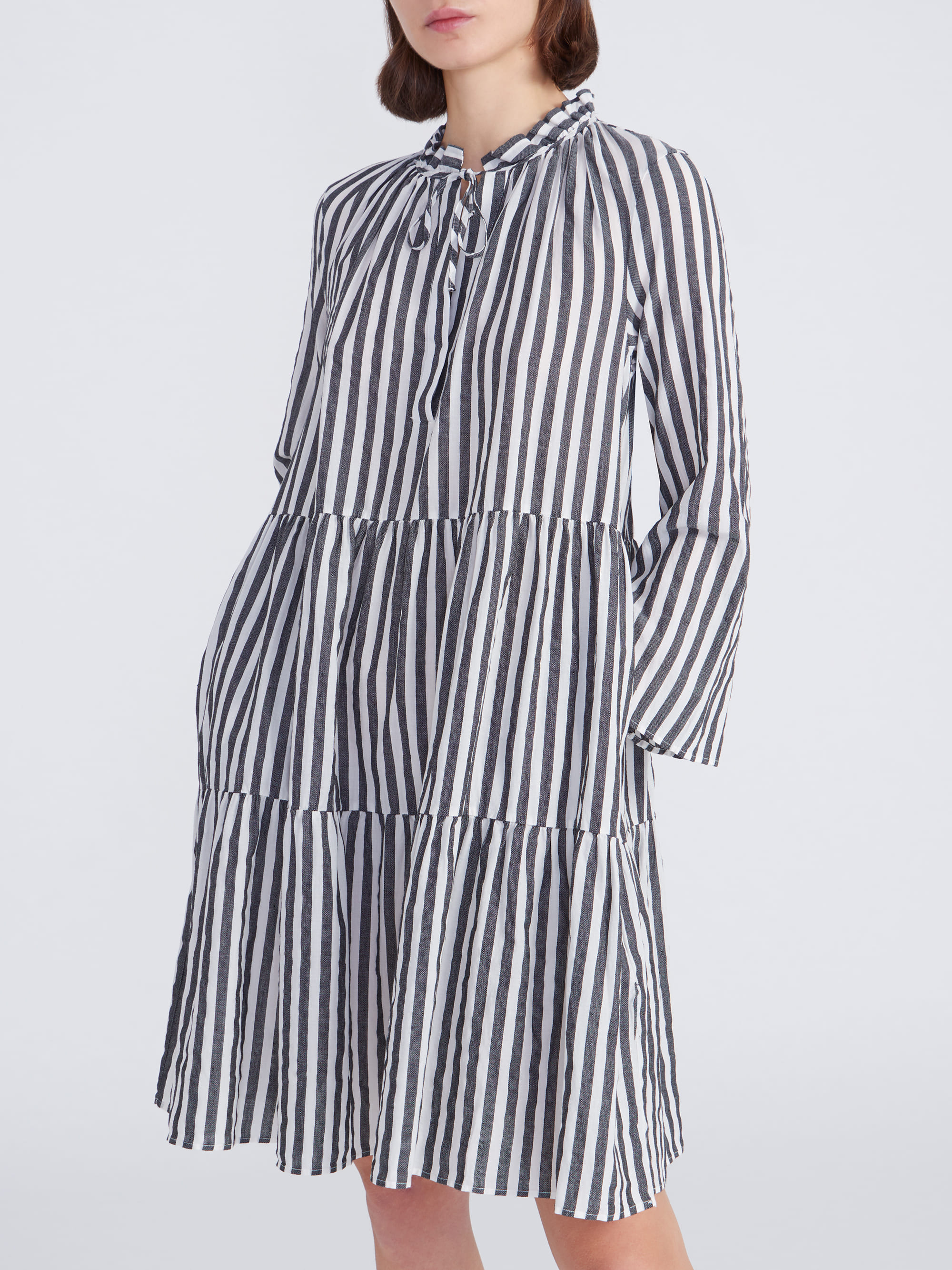 Kleid Milly Stripes Grau