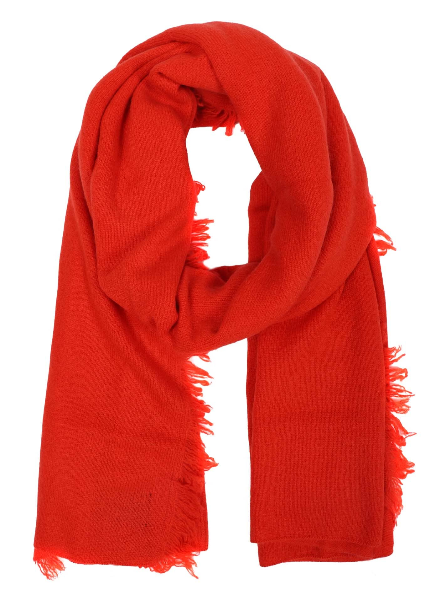 Fransenschal Cashmere Orange