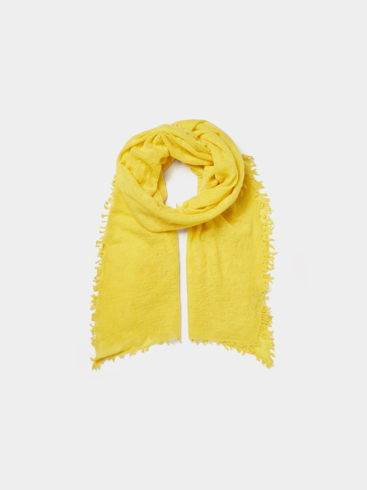 Cashmere-Schal Gelb
