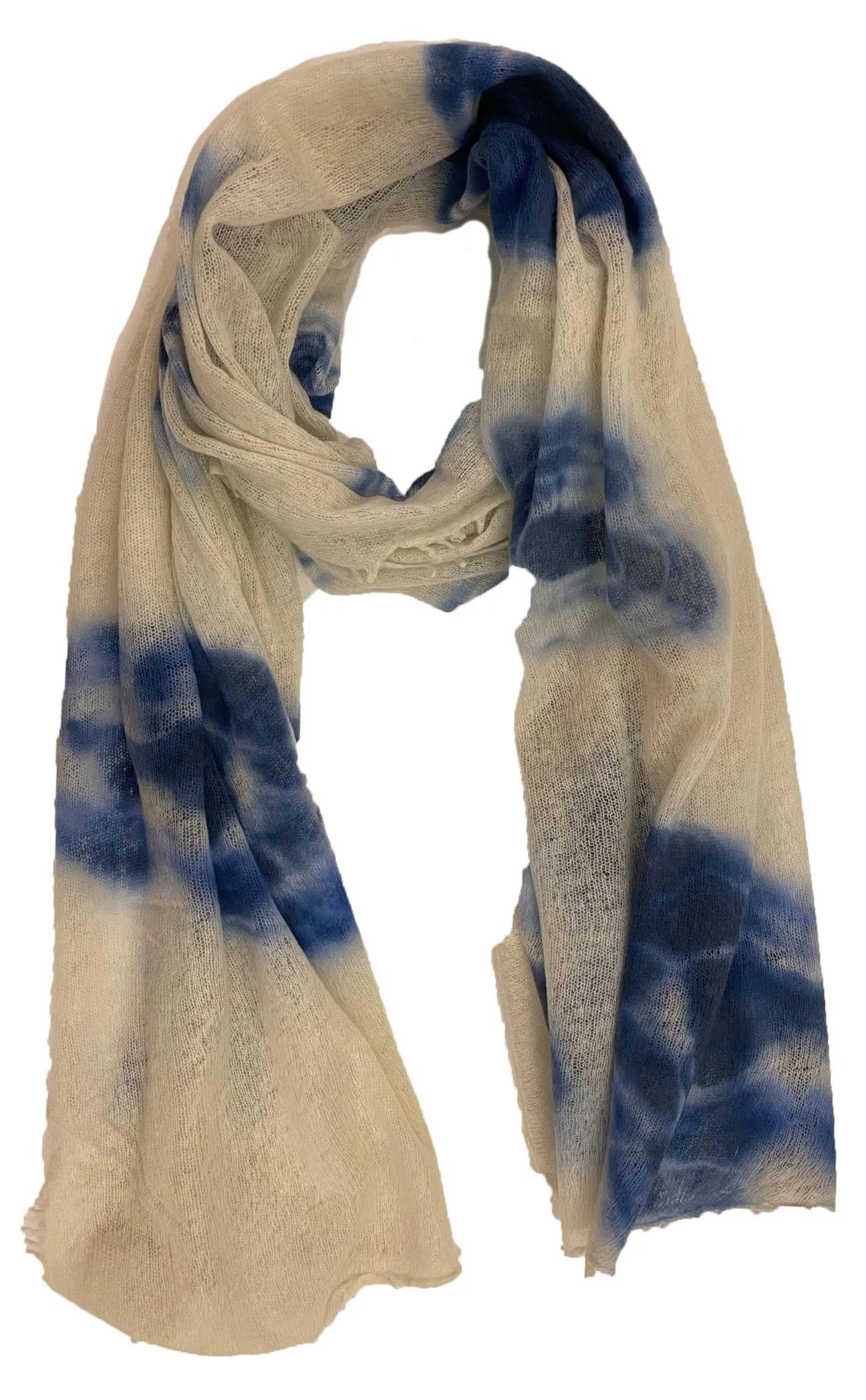 Cashmere-Schal Batik Blau