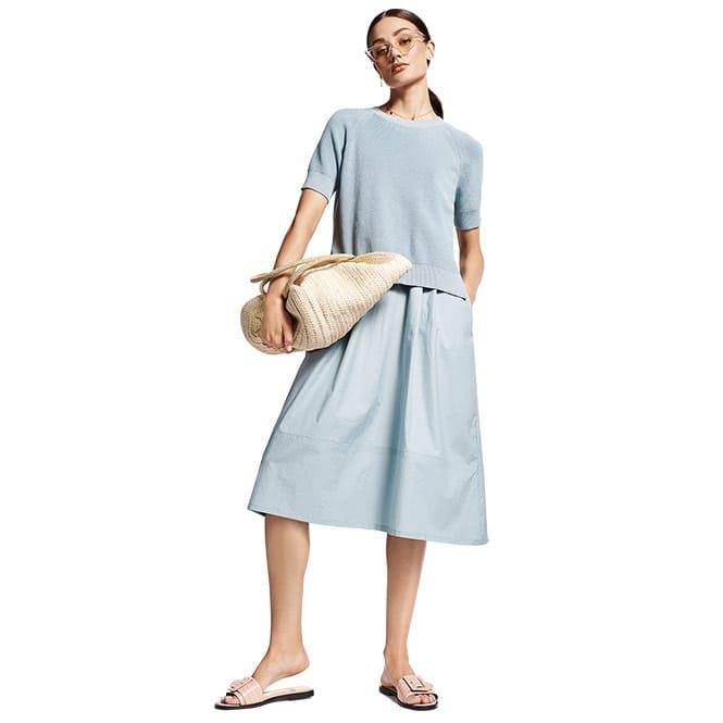 2-teiliges Kleid mit Pullover
