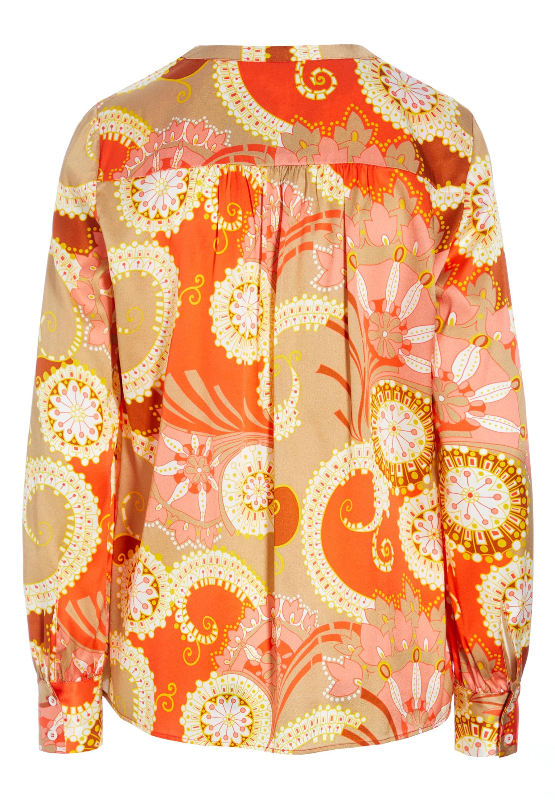 Seidenbluse Kay Paisley Orange