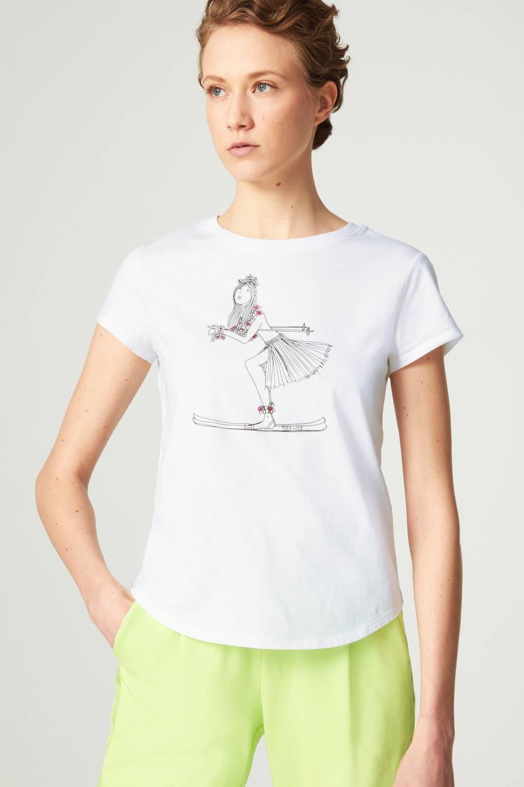 T-Shirt Debra mit Mesheinsatz