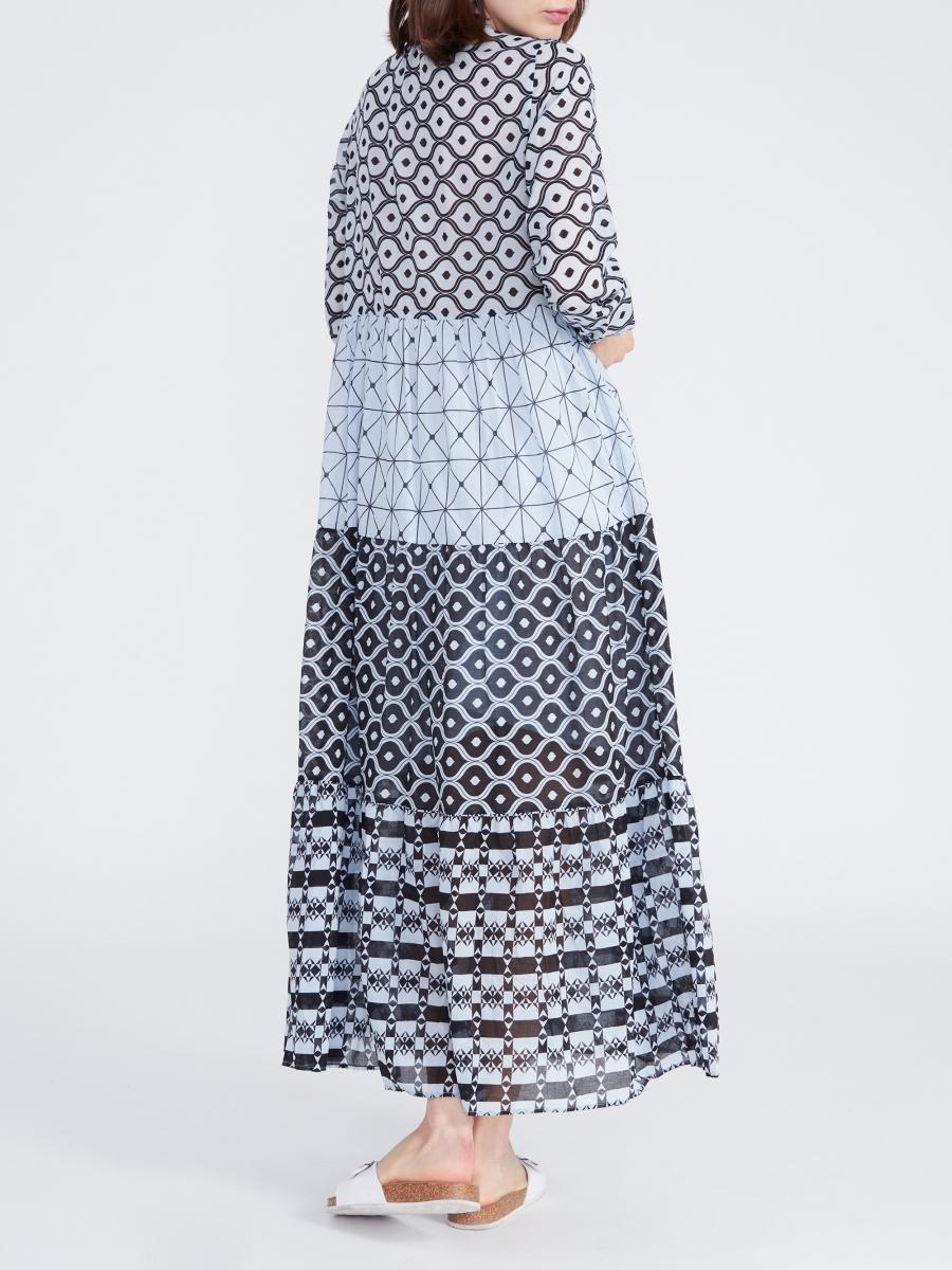 Kleid Milly Long Grafik