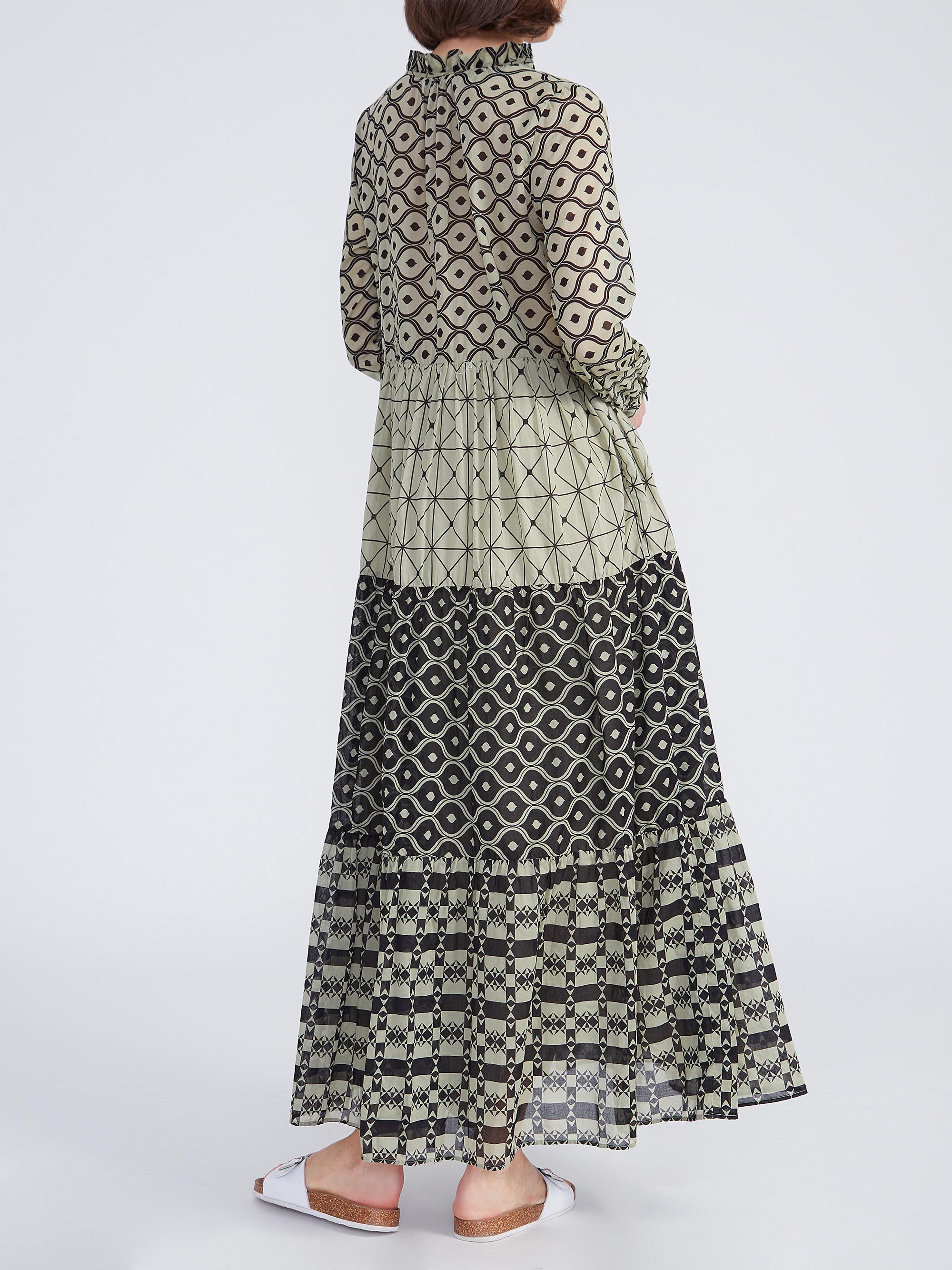 Kleid Milly Long Grafik Grün