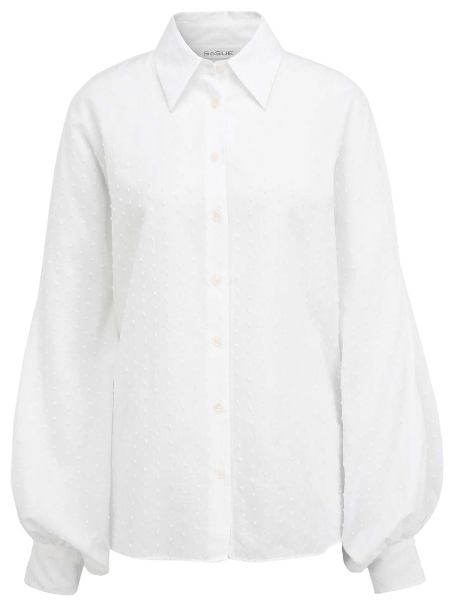 Bluse Antonia Embroidery Weiss