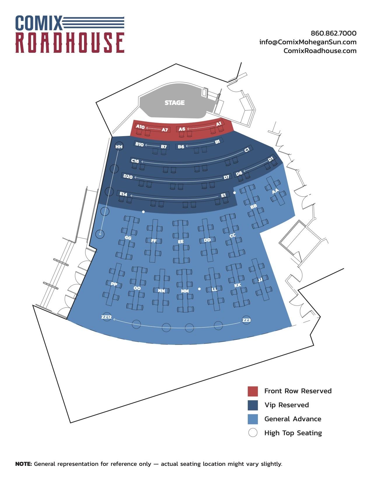 club seat map