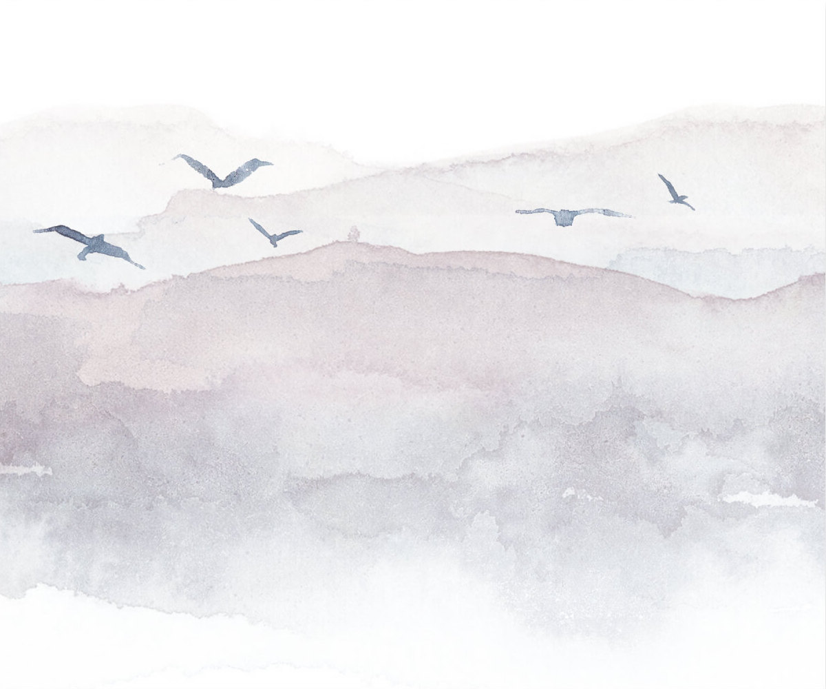 Birds watercolor decorative image