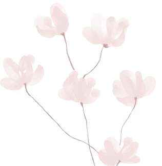 Pink flowers decorative image
