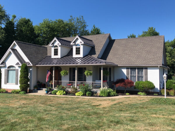 GAF Timberline Shingle Roof and Bronze Grip Tex Metal Roofin