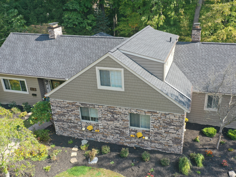 We completed a whole house makeover on this home in Akron, Ohio. Mr. and Mrs. Cogdeill trusted their vision to us and it came together beautifully to truly transform the exterior of this home.