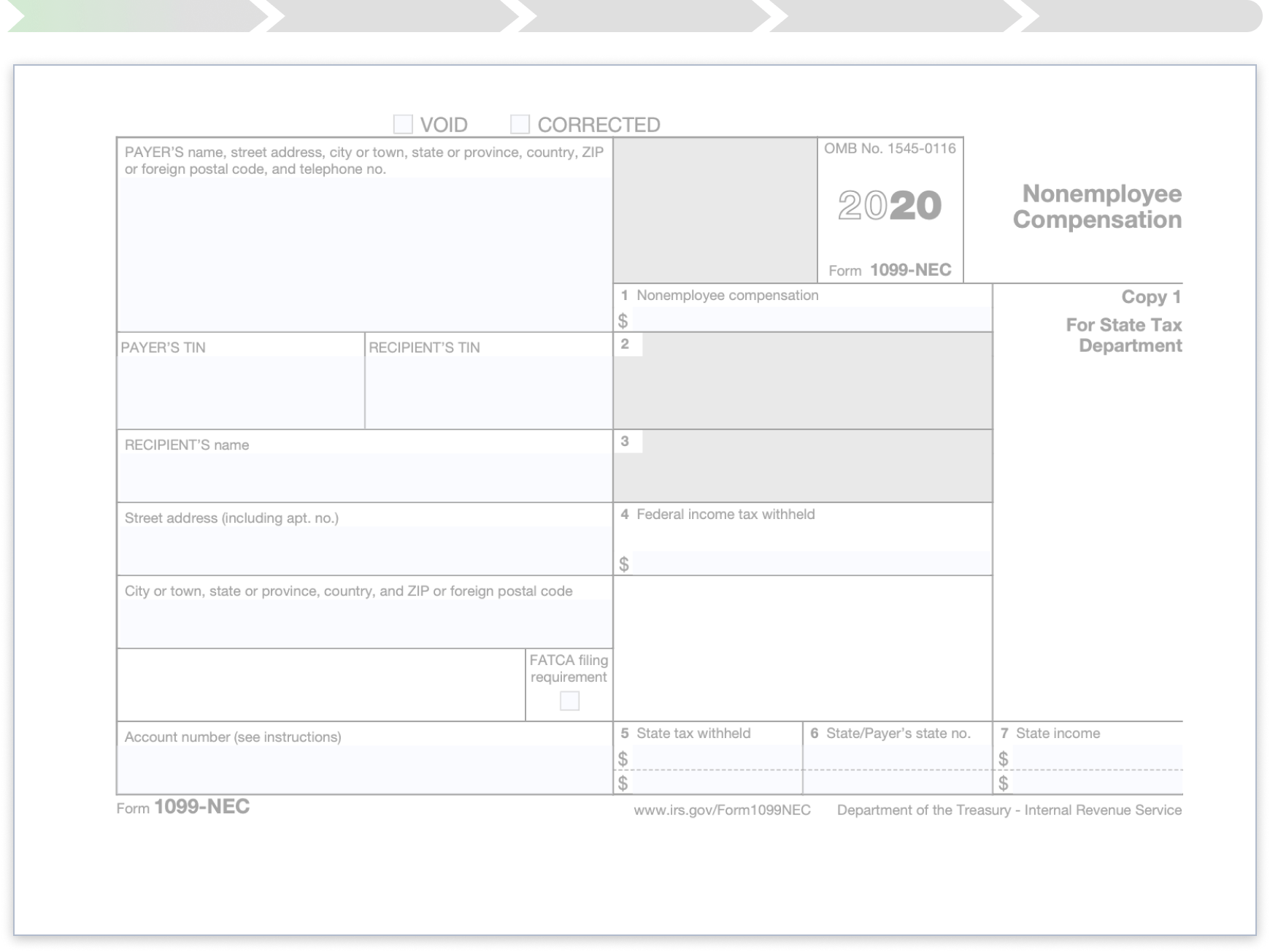 A preview of a blank 1099-NEC document