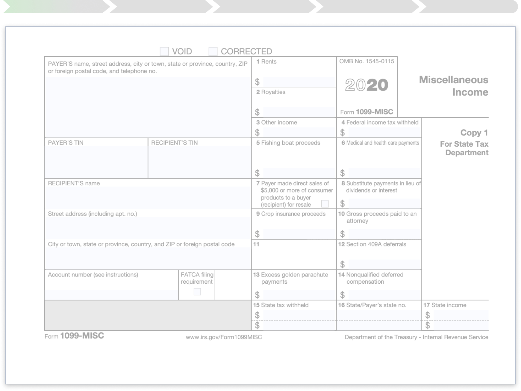 A preview of a blank 1099-MISC document