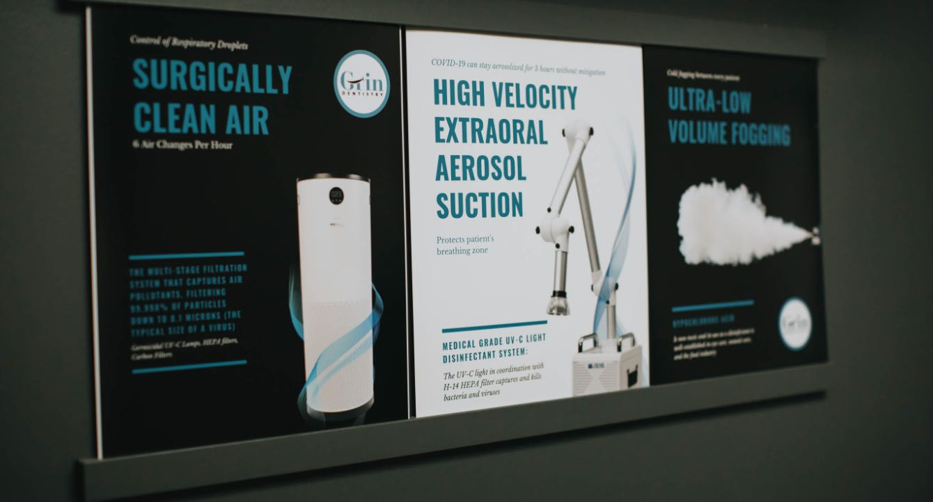 Photo of COVID protocol posters