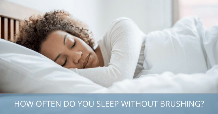 How serious is not brushing your teeth every night, like this woman sleeping?