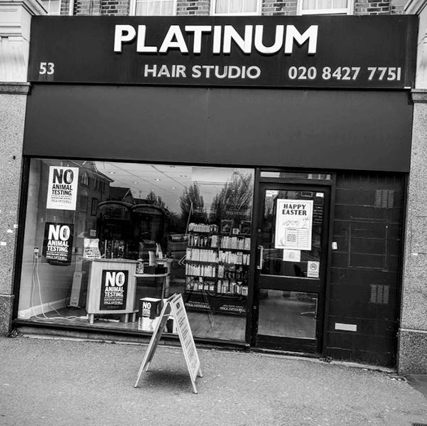 platinum hair studio exterior