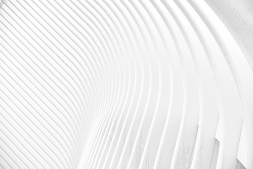 A curved wall