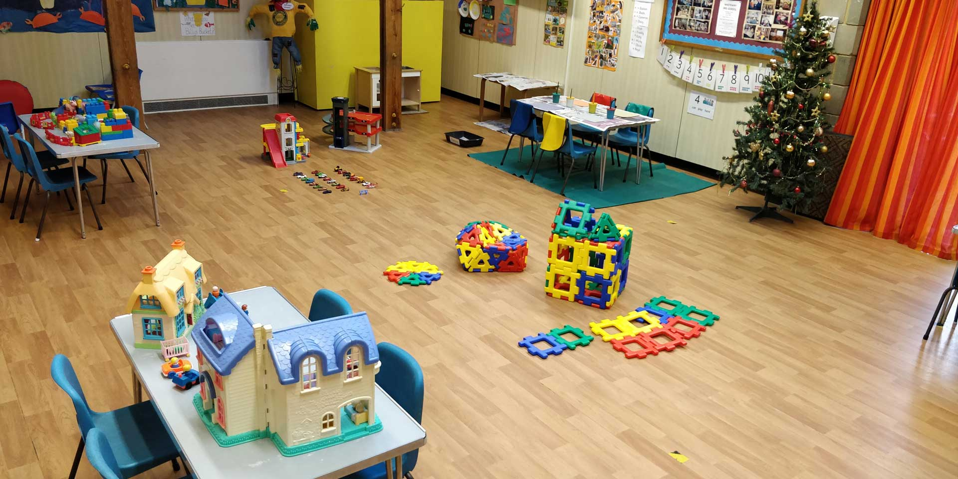 The main hall at Whiteway Nursery ready for the children