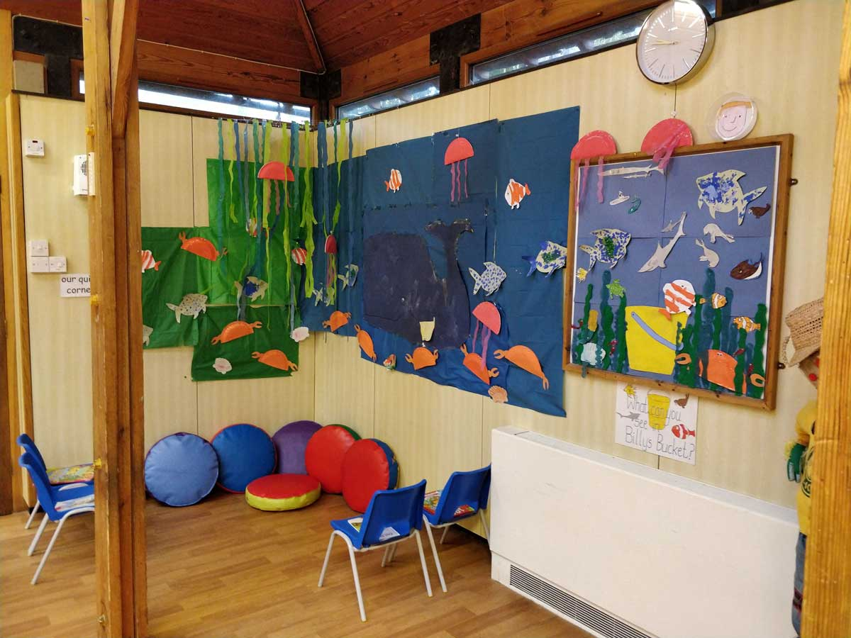 A mural on the wall at Rottingdean Whiteway Pre-School