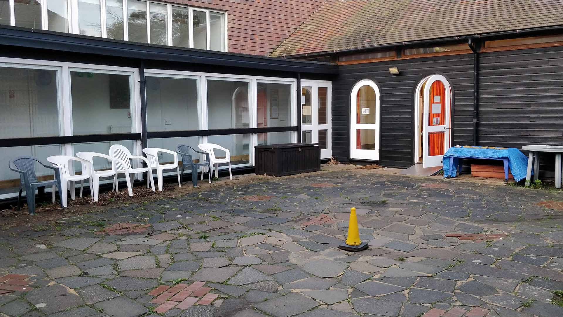 The outside play area of Rottingdean Whiteway Pre-School