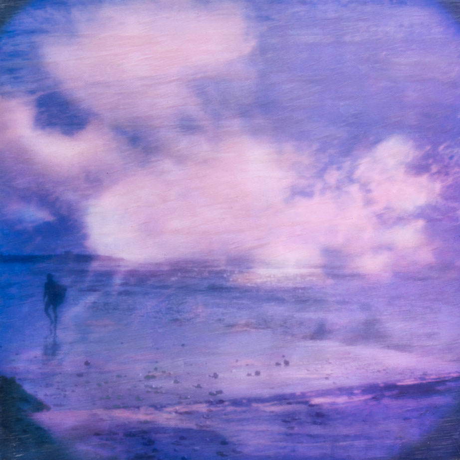 Pink Blue Montauk Surfer