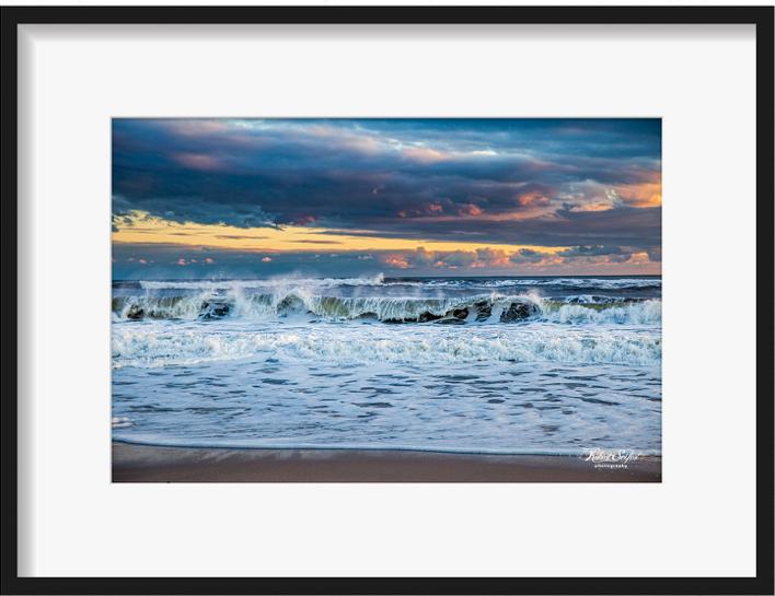 Atlantic Beach Ocean Spray Sunset by Robert Seifert