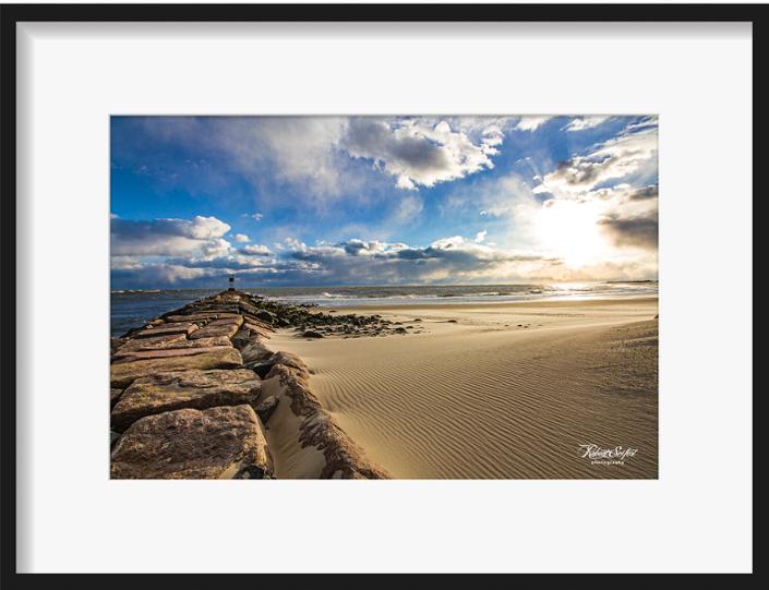 Shinnecock Inlet Sand Drift by Robert Seifert
