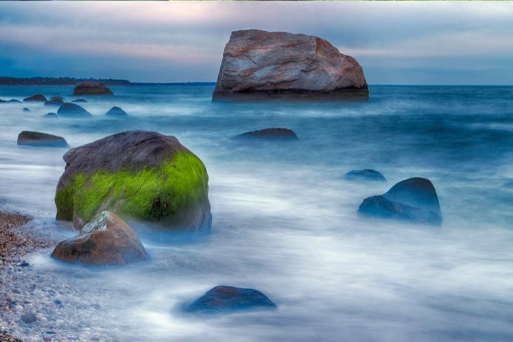 North Fork Rocks at Dusk by Kevin Ferris