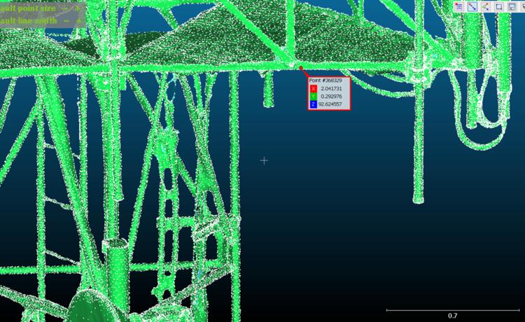 Bottom edge of gantry mesh model