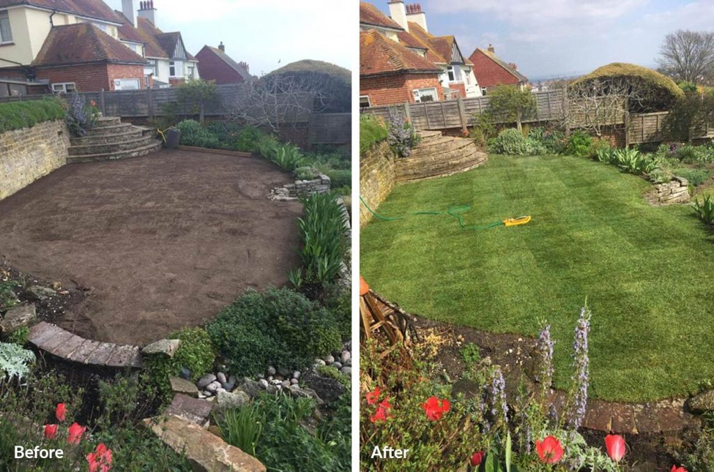 turfing before and after