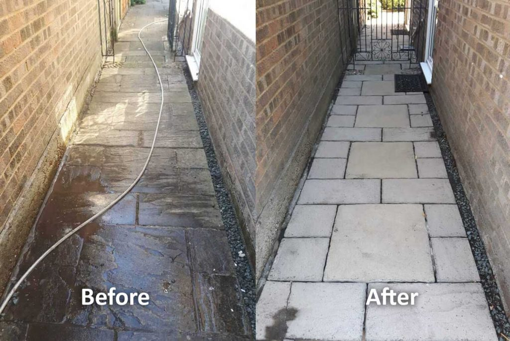 jet wash before and after