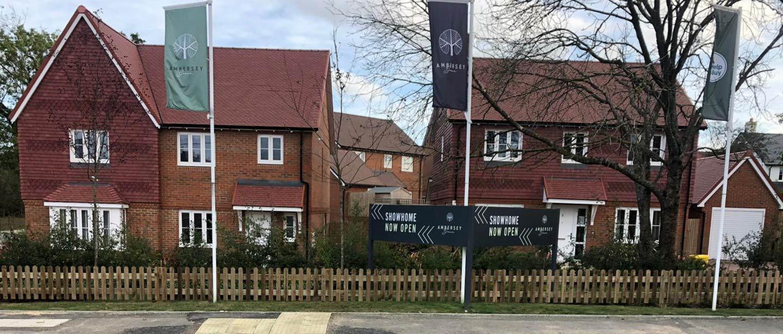 new fence for housing development